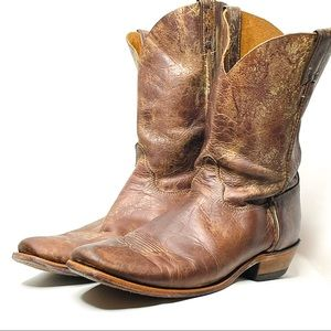 Justin Distressed Brown Leather Boots 13
